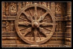 Konark Temple Chariot Wheel